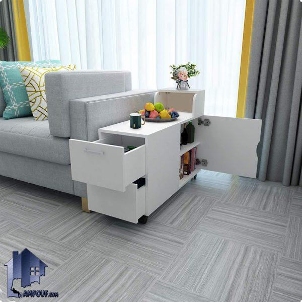 کابینت CSJ100 که به عنوان میز جلومبلی و عسلی کشو دار در کنار مبلمان منزل و اداری و همچنین به عنوان یک کمد و فایل در محیط های اداری مورد استفاده قرار میگیرد.