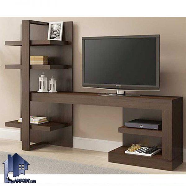 میز LCD مدل TTJ58 که به عنوان یک استند و براکت تلویزیون و همچنین یک زیر تلویزیونی ویترینی و قفسه دار در داخل تی وی روم و پذیرایی مورد استفاده قرار میگیرد.