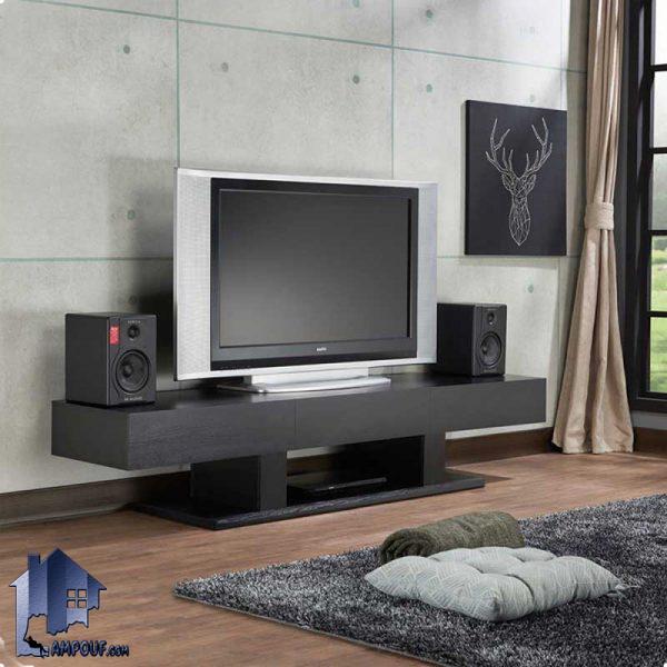 میز LCD مدل TTJ59 با طراحی به صورت کشو دار که به عنوان یک براکت و استند تلویزیون و زیر تلویزیونی در تی وی روم و پذیرایی منزل مورد استفاده قرار میگیرد.