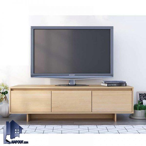 میز LCD مدل TTJ60 با طراحی کشو دار و درب دار که با طراحی کلاسیک به عنوان استند و براکت تلویزیون و یا زیر تلویزیونی در پذیرایی و تی وی روم استفاده میشود.