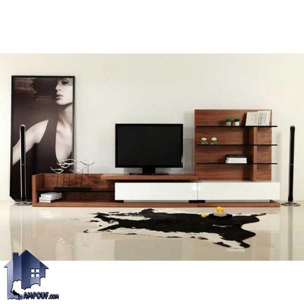میز LCD مدل TTJ61 به صورت زیر تلویزیونی و یا استند و براکت تلویزیون برای قرار گیری در دکور قسمت پذیرایی و تی وی روم منزل و یا ویلا ها ساخته شده است.