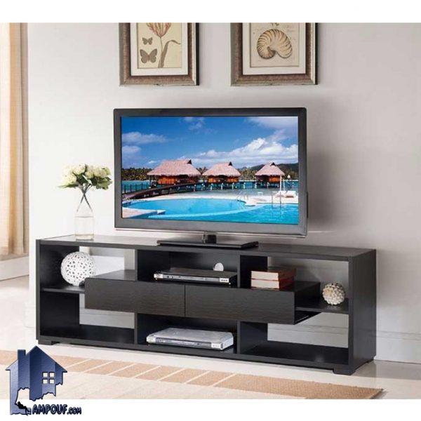 میز LCD مدل TTJ62 با ساختار کشو دار و قفسه دار که به عنوان زیر تلویزیونی و براکت و استند تلویزیون در قسمت تی وی روم و همچنین پذیرایی استفاده میشود.