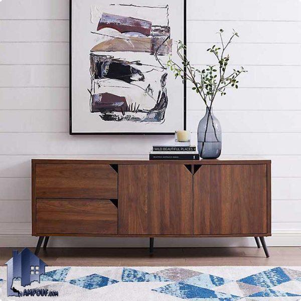 میز LCD مدل TTJ63 دارای پایه های چوبی که به عنوان استند و براکت تلویزیون و یا زیر تلویزیونی در تی وی روم منزل و یا به عنوان کنسول در پذیرایی استفاده میشود.