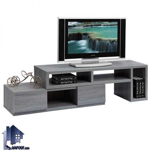 میز LCD مدل TTJ66 با سه مدل چیدمان که دارای کشو و قفسه بوده و به صورت استند و براکت تلویزیون و یا زیر تلویزیونی در پذیرایی و تی وی روم منازل استفاده میشود.