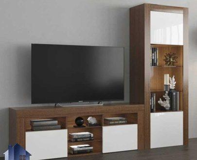 میز LCD مدل TTJ68 دارای ویترین که به عنوان یک استند و براکت تلویزیون ویترین دار در قسمت تی وی روم و پذیرایی قرار گرفته و دکوری زیبا را به وجود میآورد.