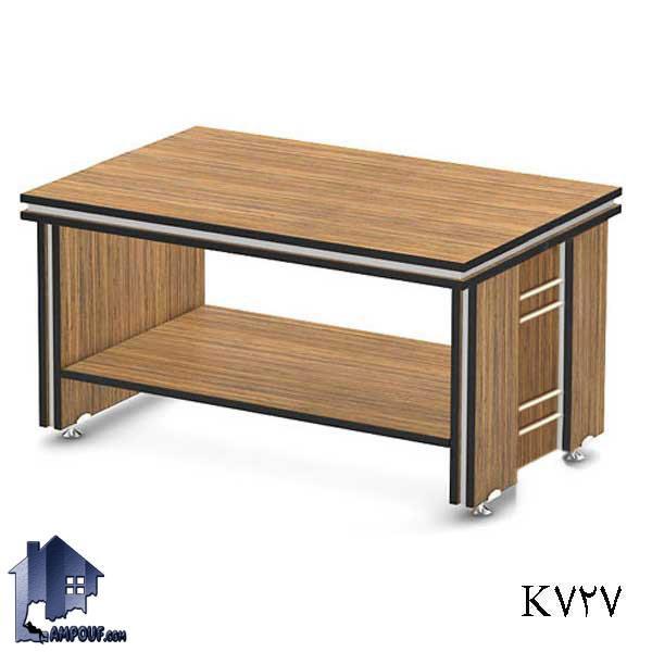 جلومبلی بالو OfON727 که برای پذیرایی کردن در محیط های اداری به عنوان میز برای جلوی مبل در سالن های انتظار و اتاق مدیریت و کار مورد استفاده قرار میگیرد.