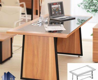 میز مدیریت راوند MDN4611 که در داخل اتاق کار مدیریتی و معاونتی و یا کارشناسی و در کنار دیگر دکور و تجهیزات اداری فضایی مجهز را برای کار به وجود میآورد.