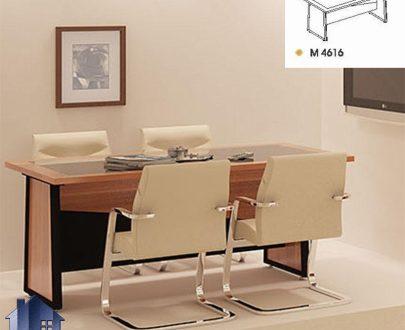 میز کنفرانس راوند CTN4616 که به عنوان میز کار برای انجام جلسات در اتاق کنفرانسی و مدیریت در کنار دیگر دکور و تجهیزات اداری مورد استفاده قرار میگیرد.