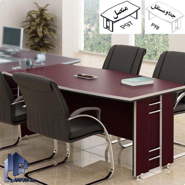 میز کنفرانس بالو CTN98 که برای برگزاری جلسات در داخل اتاق کار و کنفرانسی و یا اتاق مدیریتی در کنار دیگر دکور و تجهیزات اداری مورد استفاده قرار میگیرد.