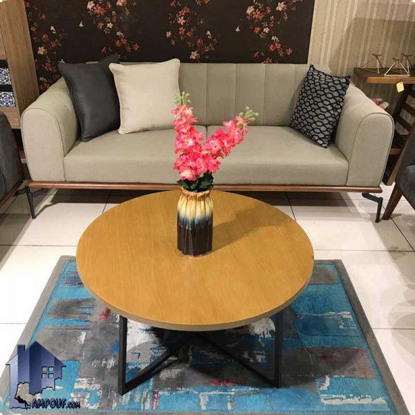 میز جلومبلی ساروس HOAR106 به عنوان یک میز جلو مبلی و عسلی پذیرایی با صفحه روکش چوبی و پایه فلزی که در کنار مبلمان دکور خانگی و اداری استفاده میشود.