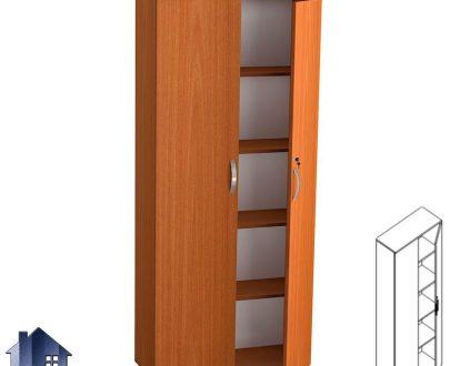 کمد بایگانی LSN731 که به صورت قفسه دار و دو درب برای قرار گیری زونکن و پرونده در داخل اتاق ای اداری طراحی شده و در کنار دیگر دکور اداری استفاده میشود.