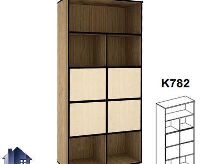 کتابخانه 4 درب وسط BCSN782 دارای تعداد زیادی قفسه و درب که میتواند به صورت ویترین و کمد بایگانی در اتاق کار و در کنار دیگر دکور و تجهیزات اداری قرار بگیرد.