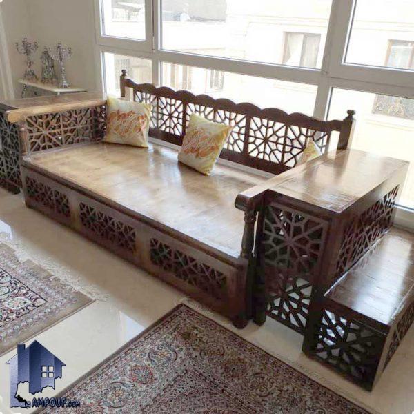 تخت سنتی چهارنفره پلهای 190*90 مدل TRK105 تخت سنتی سهنفره پلهای 160*60 مدل TRK104 که به صورت یک دکور سنتی به عنوان یک تخت چوبی باغی و قهوه خانه ای در داخل منازل و رستوران سفره خانه استفاده میشود.