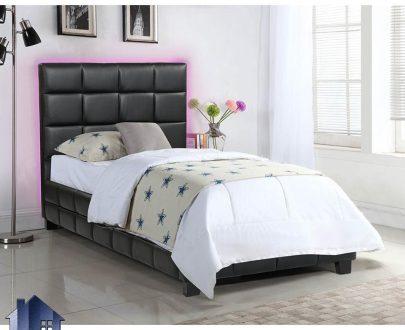 تخت خواب یک نفره SBJ107 که به صورت باکس چرمی و پارچه ای چستر لمسه دوزی شده و به عنوان تختخواب یکنفره در اتاق خواب در کنار سرویس خواب دکور خانگی قرار میگیرد