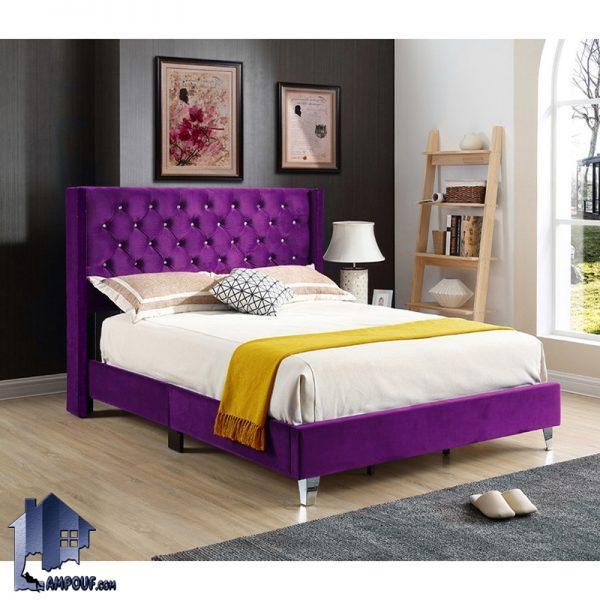 تخت خواب یک نفره SBJ108 دارای روکش های چرمی و پارچه ای به صورت یک باکس و تختخواب یکنفره چستر و لمسه کاری شده که در کنار سرویس خواب و دکور خانگی قرار میگیرد.