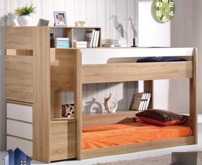 تخت خواب دو طبقه TBJ20 که به عنوان سرویس خواب و تختخواب دوطبقه کودک و نوجوان در داخل اتاق خواب و در کنار دکور خانگی به صورت کمجا مورد استفاده قرار میگیرد