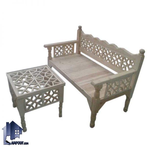 ست تخت دونفره سنتی مدل TRK110 ساخته شده به صورت چوبی که میتواند در منازل و فضای باز و رستوران ها و سفره خانه های سنتی و قهوه خانه ها مورد استفاده قرار بگیرد