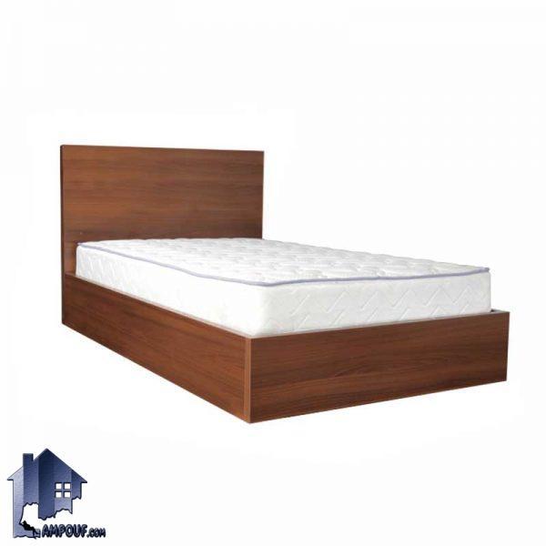 تخت خواب یک نفره SBJ111 که دارای طراحی ساده و شیک و به صورت باکس چوبی با کفی فلزی که به عنوان تختخواب یکنفره در اتاق خواب نوجوان و بزرگسال استفاده میشود.