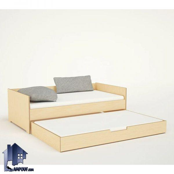 تخت خواب کودک و نوجوان CHJ103 دارای تخت میهمان به صورت کشویی و یا به صورت تختخواب دو طبقه که در کنار سرویس خواب در داخل اتاق خواب مورد استفاده قرار میگیرد.