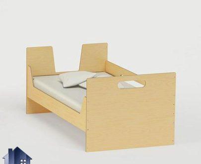 تخت خواب کودک و نوجوان CHJ111 با طراحی زیبا که به صورت تختخواب یک نفره حفاظ دار در کنار سرویس خواب در اتاق خواب کودکان و نوجوانان مورد استفاده قرار میگیرد.