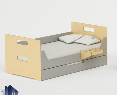 تخت خواب کودک و نوجوان CHJ112 دارای تخت اضافی کشویی کمجا به صورت میهمان طراحی شده و این تختخواب یک نفره در اتاق خواب و در کنار سرویس خواب استفاده میشود.