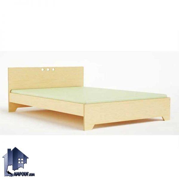 تخت خواب دو نفره DBJ120 با دو سایز استاندارد کوئین Queen و کینگ King که به عنوان تختخواب دونفره در کنار سرویس خواب داخل اتاق خواب مورد استفاده قرار بگیرد.