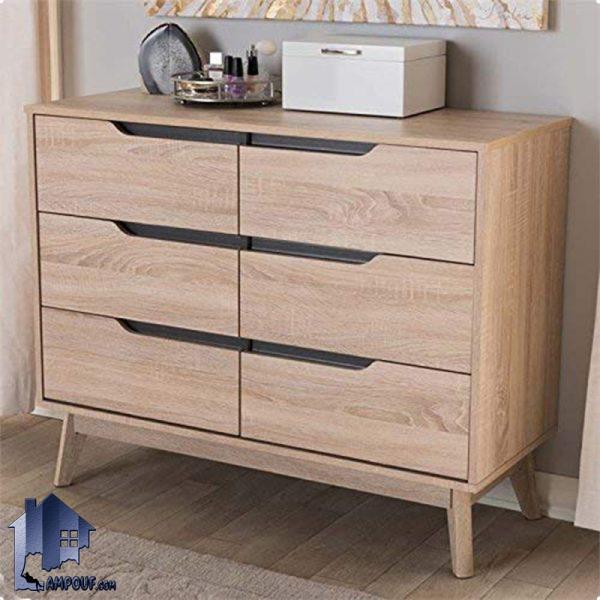 دراور DJ346 که دارای شش کشو بوده و به عنوان کنسول و میز آرایش و میز توالت زیبا در داخل اتاق خواب و در کنار سرویس خواب در منازل مورد استفاده قرار میگیرد