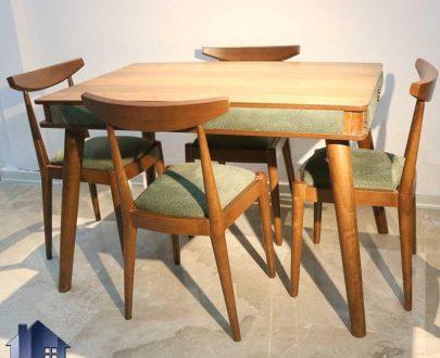 ست میز نهارخوری DTB47 دارای بدنه کاملا چوبی که به صورت ست میز و صندلی ناهار خوری و غذا خوری در رستوران و کافی شاپ و پذیرایی و آشپزخانه استفاده میشود.