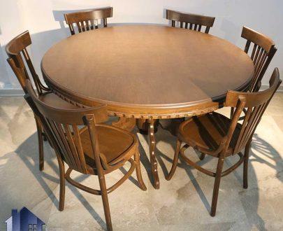 ست میز نهارخوری DTB49 دارای صندلی ناهار خوری و غذا خوری چوبی که به عنوان ست کامل در آشپزخانه و پذیرایی و رستوران و کافی شاپ مورد استفاده قرار میگیرد.