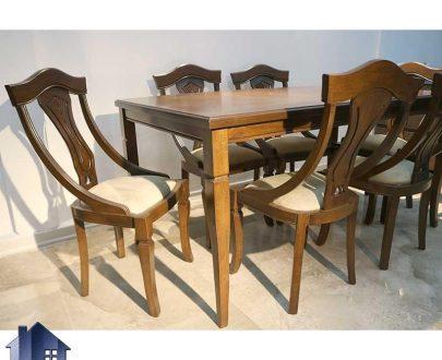 ست میز نهارخوری DTB50 ساخته شده به صورت چوبی که به عنوان میز صندلی نهار خوری و غذا خوری در رستوران کافی شاپ و پذیرایی و آشپزخانه مورد استفاده قرار میگیرد.