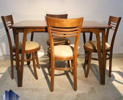 ست میز نهارخوری DTB60 دارای صندلی غذا خوری که به عنوان یک ست کامل ناهار خوری چوبی در رستوران و کافی شاپ و پذیرایی و آشپزخانه مورد استفاده قرار میگیرد.