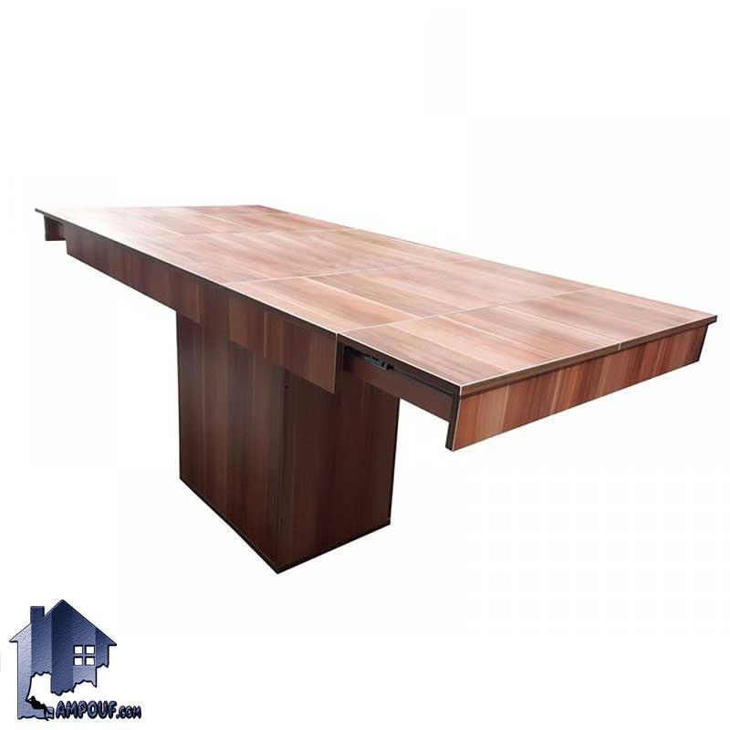 میز تبدیلی چهار به هشت DTB64 قابل تبدیل به میز غذا خوری و ناهار خوری چهار و شش و هشت نفره که در آشپزخانه و رستوران و کافی شاپ مورد استفاده قرار میگیرد.