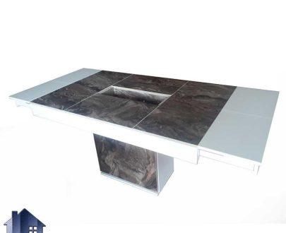 میز تبدیلی چهار به هشت DTB65 مدلی سنگی که به عنوان میز ناهار خوری و غذا خوری کمجا در داخل آشپزخانه و پذیرایی و رستوران و کافی شاپ مورد استفاده قرار میگیرد.