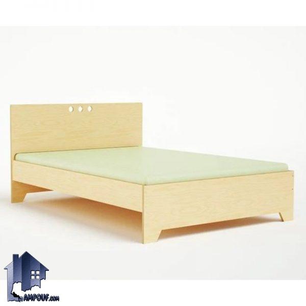 تخت خواب یک نفره SBJ113 دارای کفی فلزی که به عنوان تختخواب یک نفره چوبی با طراحی زیبا و منحصر به فرد در کنار سرویس خواب در داخل اتاق خواب قرار بگیرد