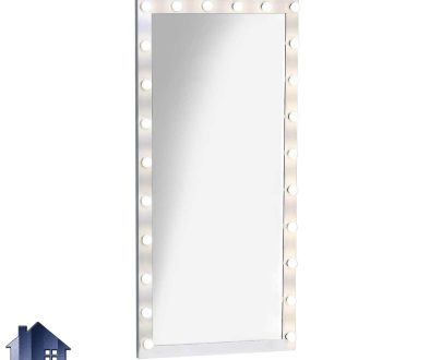 آینه قدی لامپ دار SMJ206 که به عنوان یک آینه ایستاده قابدار و چراغ دار در داخل اتاق خواب و پذیرایی و آتلیه و سالن های آرایش مورد استفاده قرار میگیرد