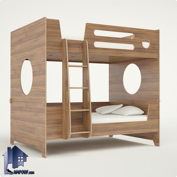 تخت خواب دو طبقه TBJ47 به صورت تختخواب دوطبقه کمجا با تخت های مجزا که در کنار سرویس خواب کودک و نوجوان و بزرگسال در داخل اتاق مورد استفاده قرار میگیرد.