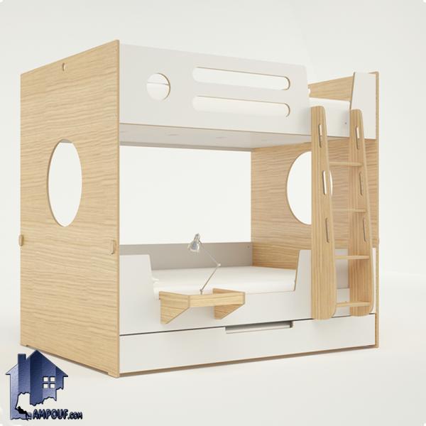 تخت خواب دو طبقه TBJ49 دارای تخت میهمان با مکانیزم کشویی و میز تحریر کمجا که به صورت تختخواب سه طبقه در کنار سرویس خواب در اتاق مورد استفاده قرار میگیرد.