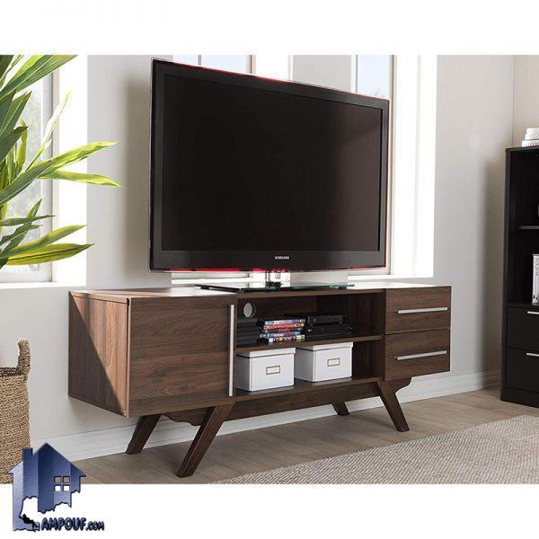 میز LCD مدل TTJ70 به عنوان یک براکت و استند تلویزیون و به صورت درب دار و کشو دار در قسمت های تی وی روم و پذیرایی منازل و ویلا ها مورد استفاده قرار میگیرد.