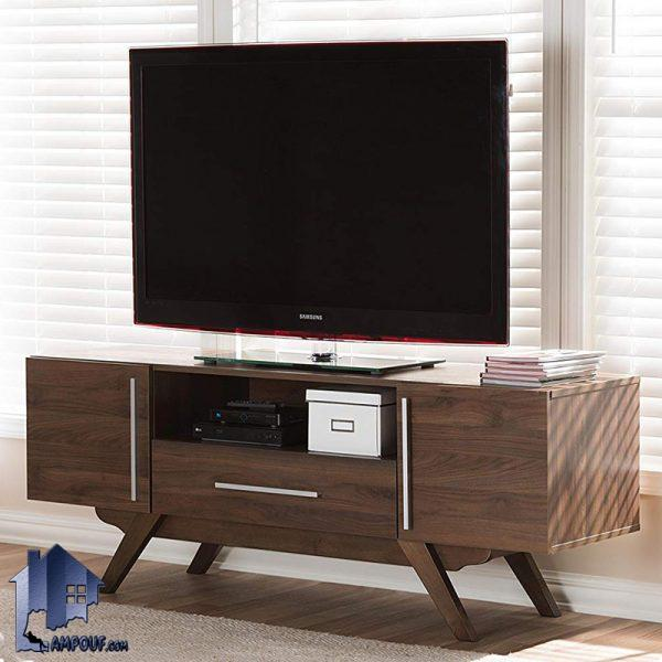 میز LCD مدل TTJ71 دارای طراحی به صورت درب دار و کشو دار و قفسه دار که به عنوان براکت و استند تلویزیون در قسمت تی وی روم و پذیرایی منازل استفاده میشود.