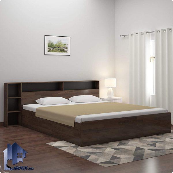 تخت خواب دو نفره DBJ122 دارای دو سایز کوئین Queen و کینگ King به عنوان تختخواب دونفره قفسه و ویترین دار در داخل اتاق خواب و در کنار سرویس خواب قرار میگیرد.
