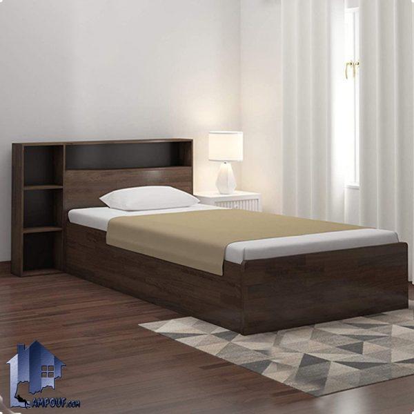 تخت خواب یک نفره SBJ115 دارای قفسه و به صورت ویترین دار که به عنوان تختخواب یکنفره کودک و نوجوان و بزرگسال در کنار سرویس خواب در اتاق خواب استفاده میشود.