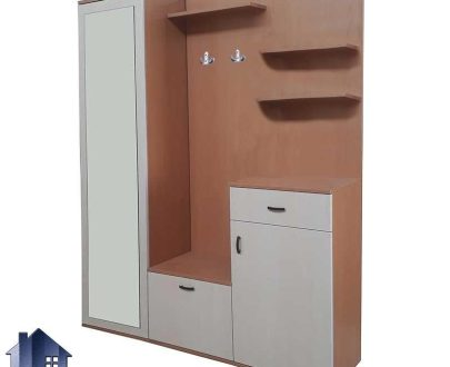 جاکفشی و جالباسی SHJ282 که به عنوان استند و کمد جای کفش و لباس کشو دار و درب دار و آینه قدی ایستاده در داخل اتاق خواب و پذیرایی مورد استفاده قرار میگیرد.