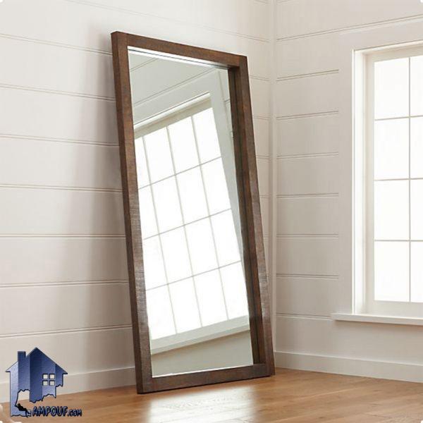 آینه قدی SMJ213 به صورت ایستاده و قابدار که به عنوان آینه گریم دکوراتیو در داخل اتاق خواب و پذیرایی و سالن آرایشگاه و آتلیه عکاسی مورد استفاده قرار میگیرد.