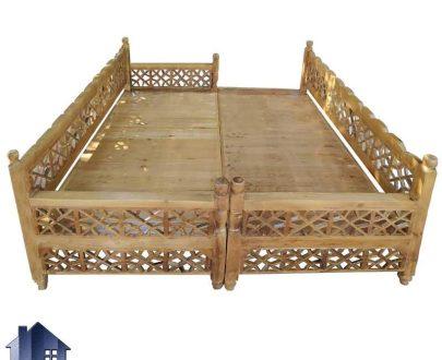 تخت سنتی هشت نفره Trk260 که به عنوان مبل و صندلی چوبی قهوه خانه ای و باغی که در داخل ویلا و منزل در فضای باز در رستوران کافی شاپ و سفره خانه استفاده میشود.