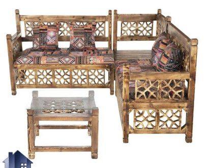 مبل ال سنتی Trk264 که به عنوان تخت و صندلی قهوه خانه ای و باغی در داخل منازل و ویلا ها و کافی شاپ و رستوران و سفره خانه های سنتی مورد استفاده قرار میگیرد.