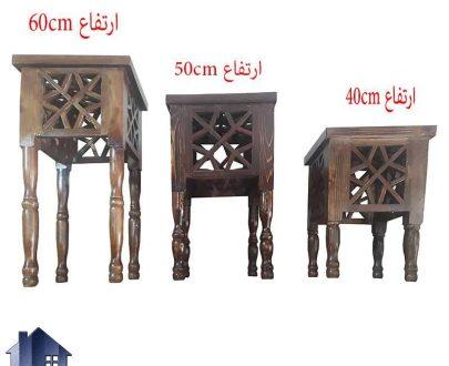 میز عسلی سنتی Trk265 که به عنوان میز پذیرایی و جلومبلی چوبی و قهوه خانه ای و باغی در رستوران و کافی شاپ و سفره خانه سنتی در کنار مبلمان قرار میگیرد.