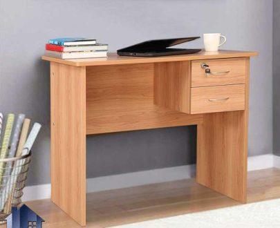 میز تحریر SDJ281 کشو دار که به عنوان میز مطالعه و کامپیوتر و لپ تاپ و میز کار داخل اتاق خواب و در محیط های اداری و دفاتر و شرکت ها مورد استفاده قرار میگیرد