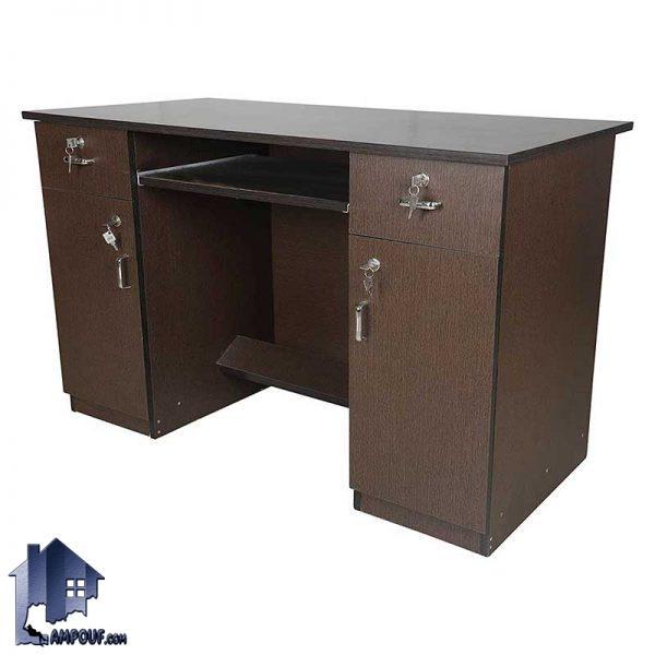 میز تحریر SDJ287 به صورت کشو دار و درب دار که به عنوان میز کار و میز کامپیوتر و مطالعه و لپ تاپ در محیط های اداری و اتاق خواب مورد استفاده قرار میگیرد.