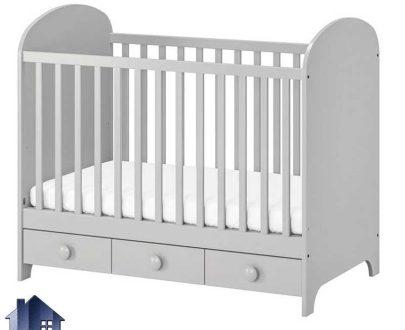 تخت خواب کودک CHJ115 که به عنوان یک تختخواب فانتزی نوزاد دختر و پسر در داخل اتاق خواب و در کنار دیگر اقلام سرویس خواب و سیسمونی مورد استفاده قرار میگیرد.