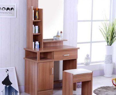 میز آرایش DJ366 که به عنوان یک میز توالت و کنسول آینه دار و کشو دار و قفسه دار برای گریم در داخل اتاق خواب و در کنار سرویس خواب مورد استفاده قرار میگیرد.